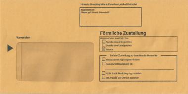 Innenumschlag für Postzustellungsurkunden - kompakt, inkl. MwSt.