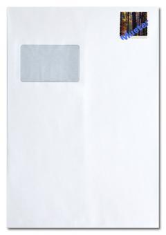 Briefumschlag C4 mit Fenster, inkl. Porto