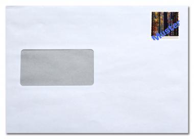 Umschlag C5 mit Fenster, inkl. Porto 1,55 Euro ab 01.07