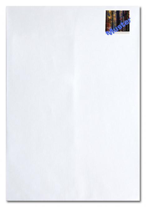Briefumschlag C4 ohne Fenster, inkl. Porto