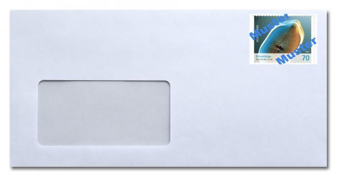 Umschlag DL m Fenster, inkl. Porto 0,80 ab 01.07