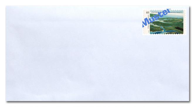 Umschlag kompakt ohne Fenster, inkl. Porto 0,95 ab 01.07