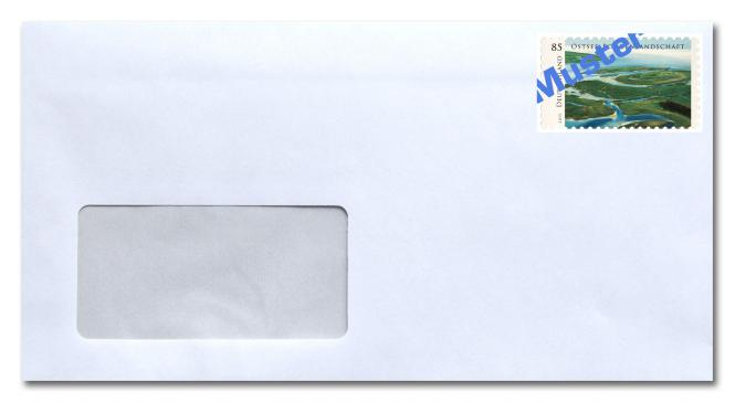 Umschlag kompakt mit Fenster, inkl. Porto 0,95 ab 01.07